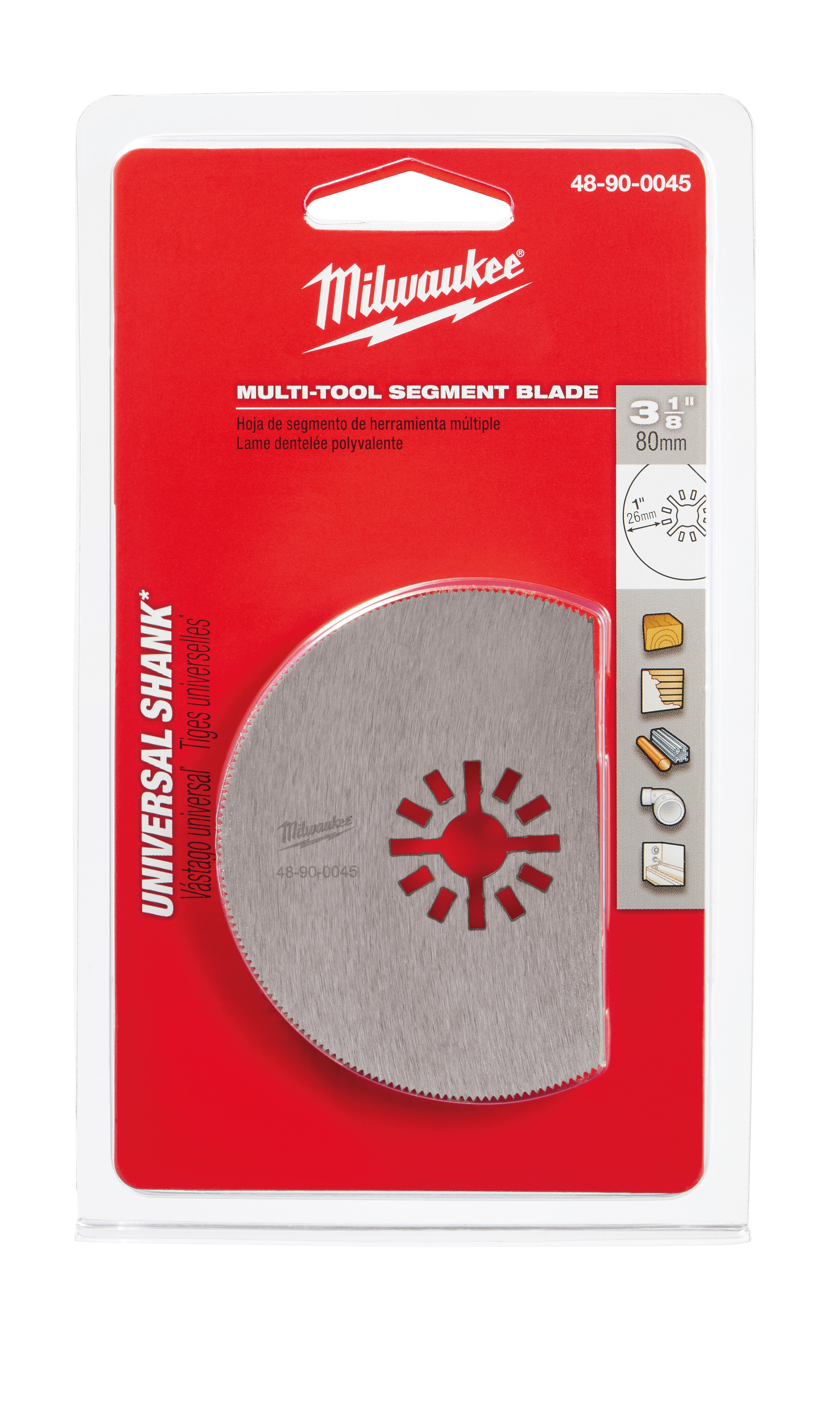 Milwaukee® 48-90-0045 Multi-Tool Blade, For Use With Oscillating Tool, 3-1/8 in Cutting Dia, HSS