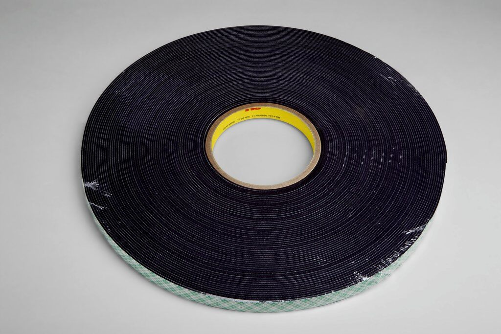 3M™ 4056 Double Coated Tape, 36 yd L x 3/4 in W, 62 mil THK, Acrylic Adhesive, Urethane Foam Backing, Black