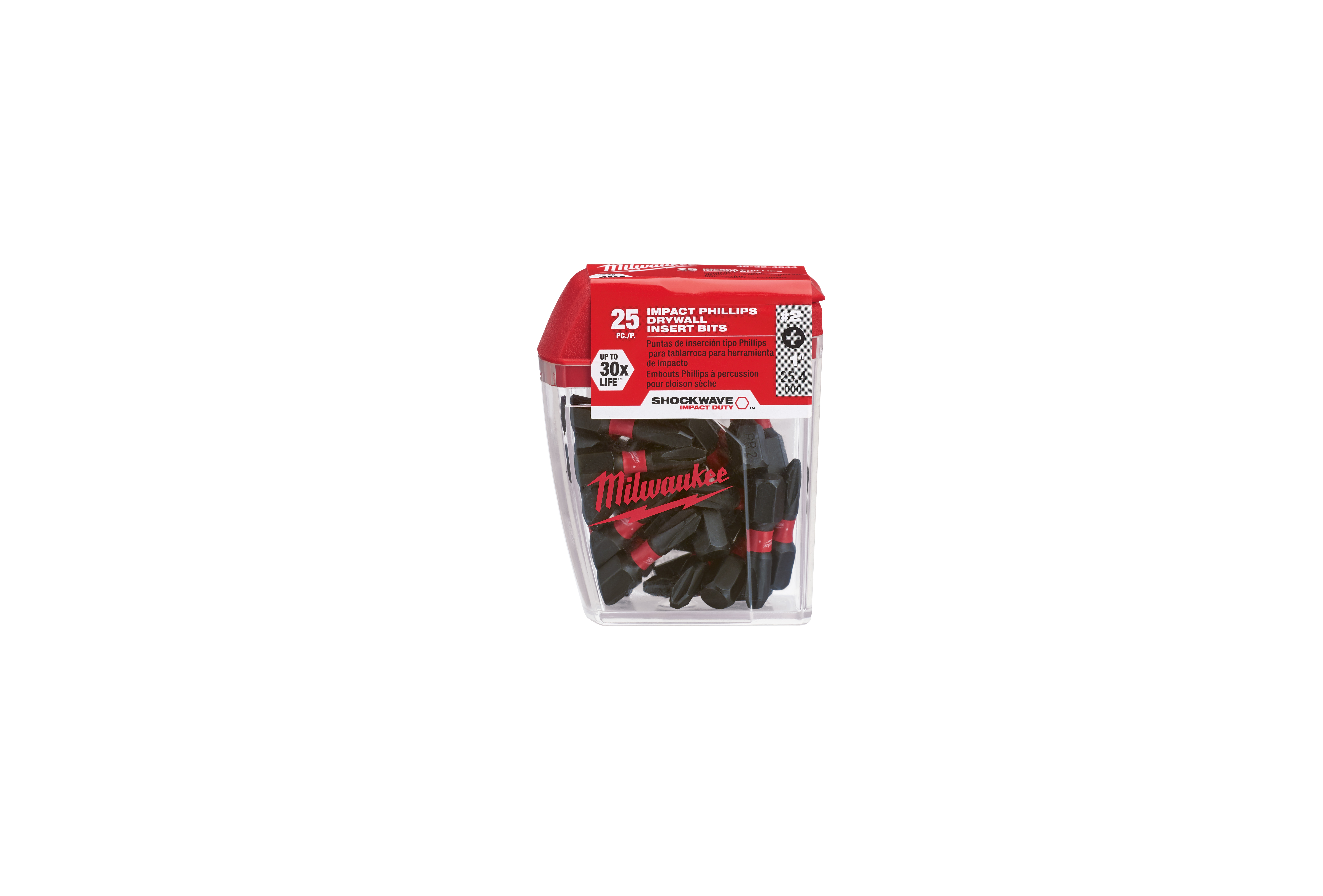 Milwaukee® SHOCKWAVE™ 48-32-4644 Single Ended Impact Contractor Pack, 25 Pieces, Hex Drive, PR2 Bit, Steel