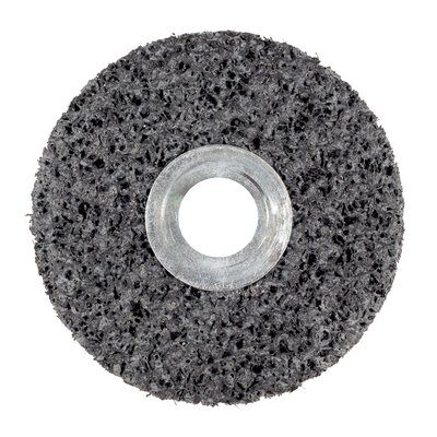 3M™ 01021 Clean and Strip Unitized Wheel, 4 in Dia Wheel, 1/4 in Center Hole, 1 in W Face, Extra Coarse Grade, Silicon Carbide Abrasive