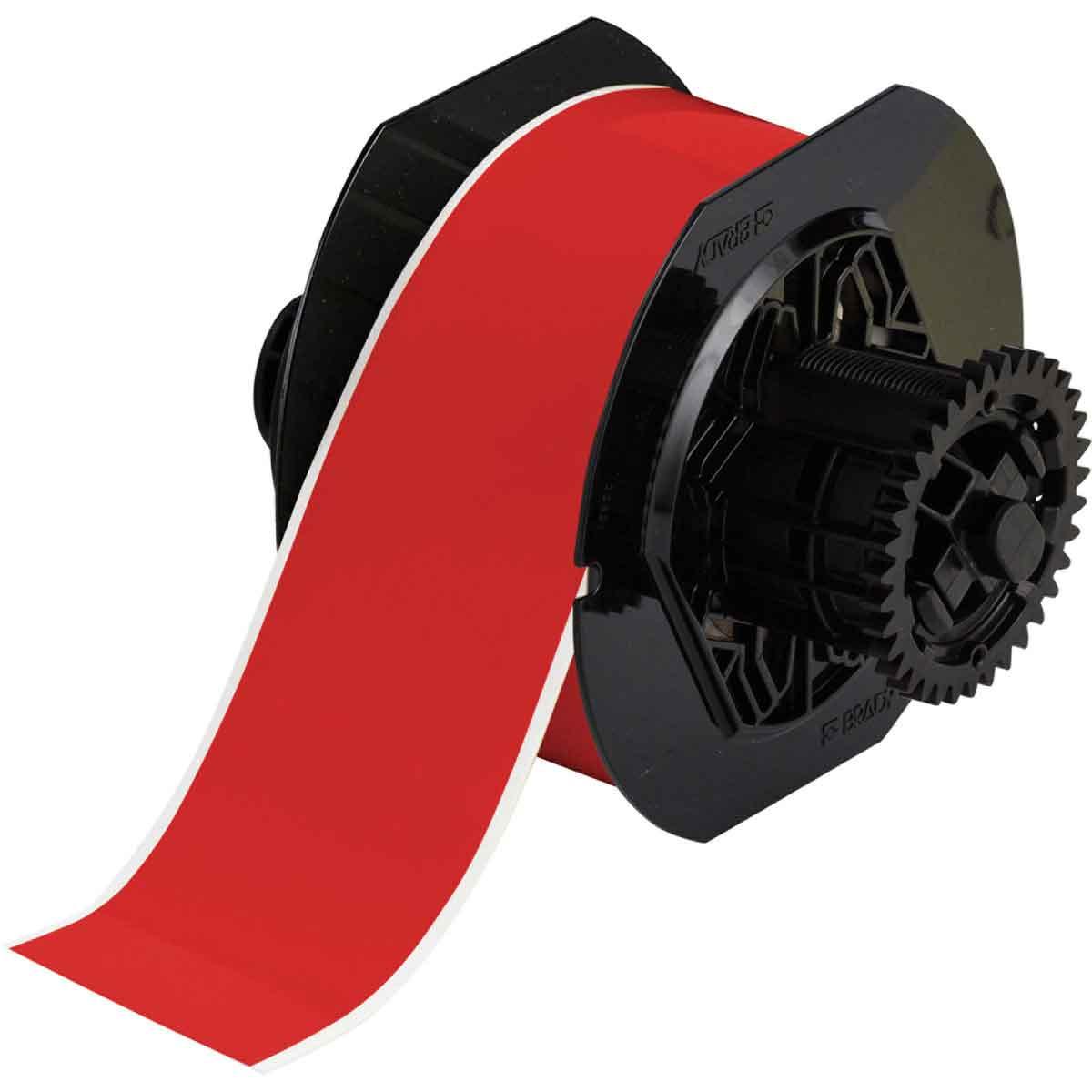 Brady® B30C-2250-595-RD Vinyl Tape, 2-1/4 in W, Red, Vinyl Film