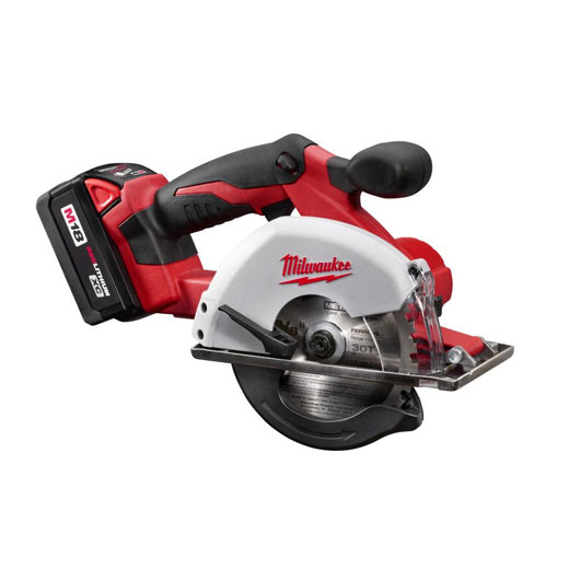 Milwaukee® 2682-22 M18™ Cordless Circular Saw Kit, 5-3/8 in Blade, 20 mm Arbor/Shank, 18 VDC, 1/8 to 2 in D Cutting, M12™ REDLITHIUM™ XC™ Lithium-Ion Battery
