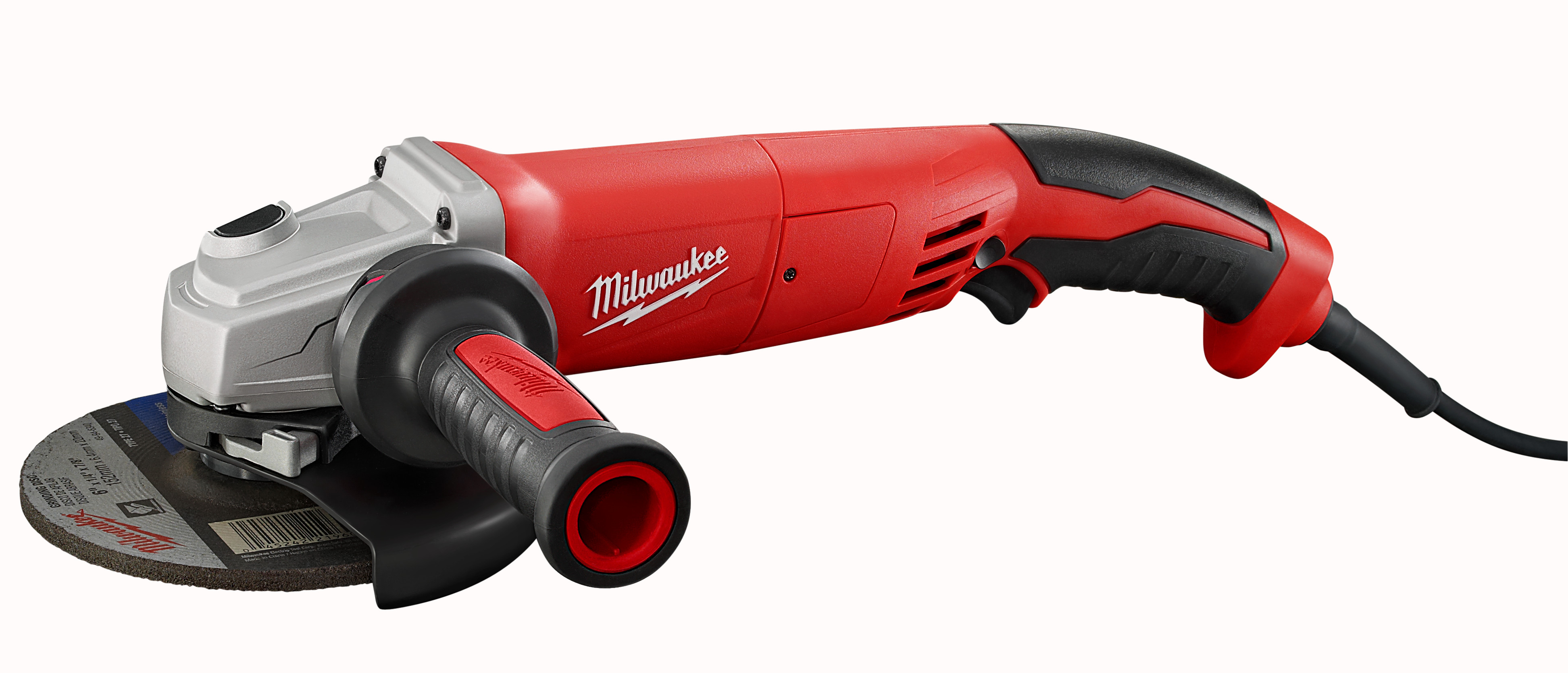 Milwaukee® 6124-30 Double Insulated Small Angle Grinder, 5 in Dia Wheel, 5/8-11 Arbor/Shank, 120 VAC, Black/Red