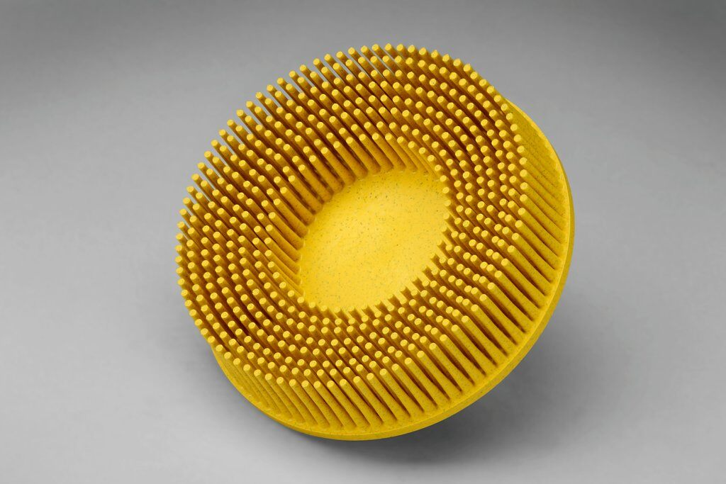 3M™ Roloc™ 048011-18736 RD-ZB Quick-Change Bristle Disc Brush, 3 in Dia Brush, 5/8 in Center Hole, Ceramic Fill