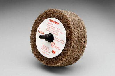3M™ Scotch-Brite™ 14594 D5 Durable Cut and Polish Disc, 3 in Dia Disc, Medium Grade, Aluminum Oxide Abrasive, Type II Attachment