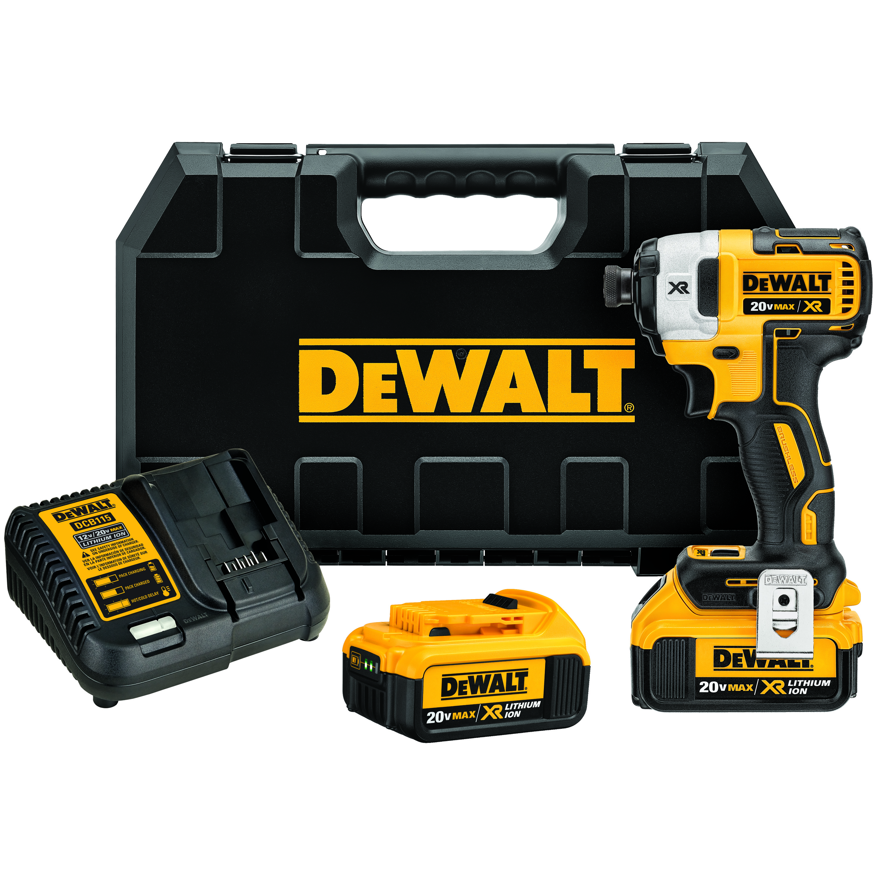 DeWALT® 20V MAX* MATRIX™ XR™ DCF887M2 Compact Lightweight Cordless Impact Driver Kit, 1/4 in Quick-Release Drive, 3600 ipm, 1825 in-lb Torque, 20 V, 5.3 in OAL