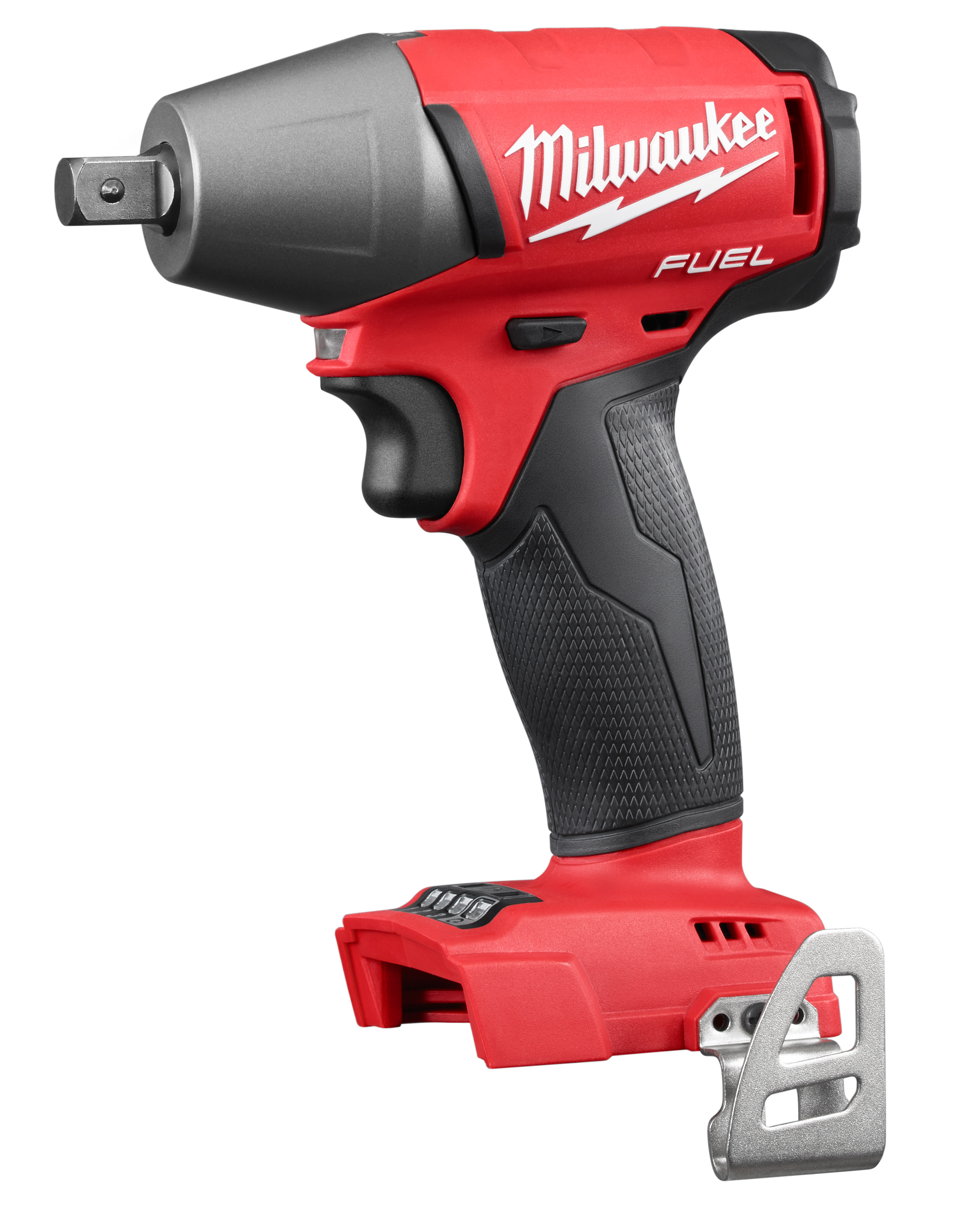 Milwaukee® M18™ FUEL™ 2755-20 Compact Cordless Impact Wrench With Pin Detent, 1/2 in Straight Drive, 0 to 3200 bpm, 220 ft-lb Torque, 18 VDC, 6 in OAL