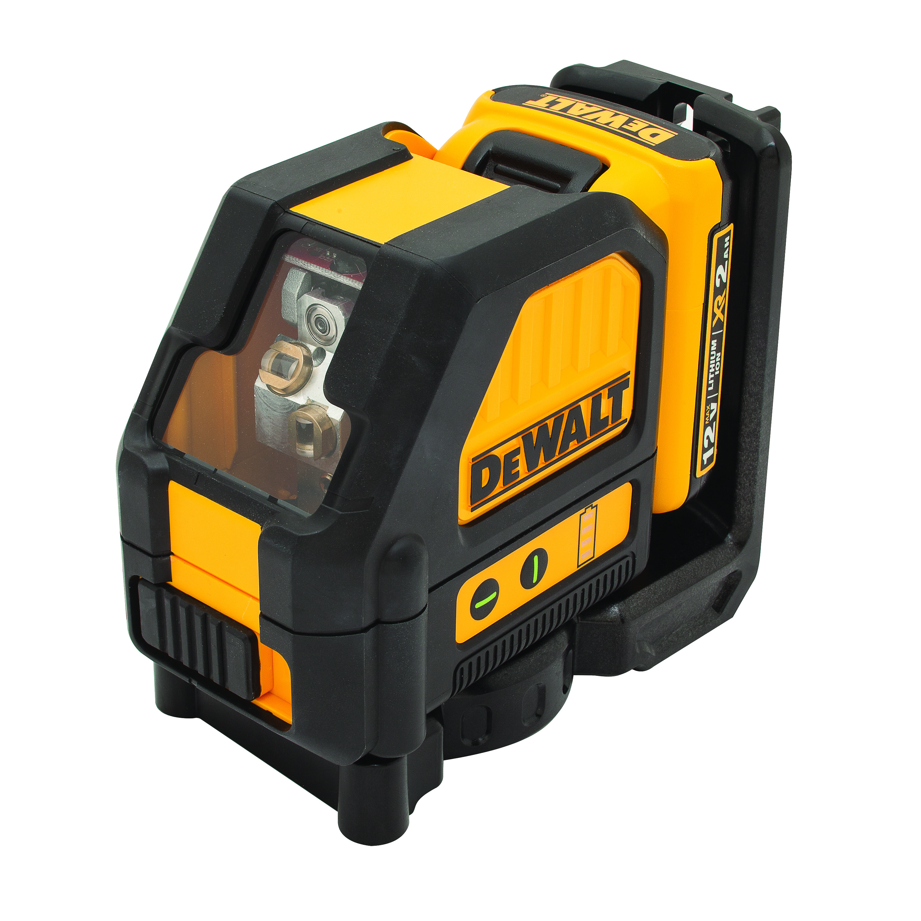 **Sale! Add to cart, save 15% more  - DeWALT® 12V MAX* DW088LG Auto-Leveling Cordless Cross Line Laser Kit, 100 ft Measuring, +/-1/8 in Accuracy, 2 Beams, Battery