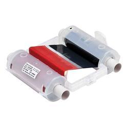 Brady® 76763 R10000 2-Color Printer Ribbon, 200 ft L x 4.11 in W, Resin, Black/Red