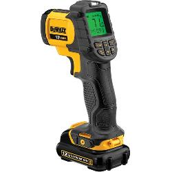 DeWALT® DCT414S1 Infrared Thermometer Kit, -20 to 932 deg F, +/-1.5%, +/-1.5 deg C Accuracy, 12:1 Focus Spot, 0.1 to 1, Lithium-Ion Battery