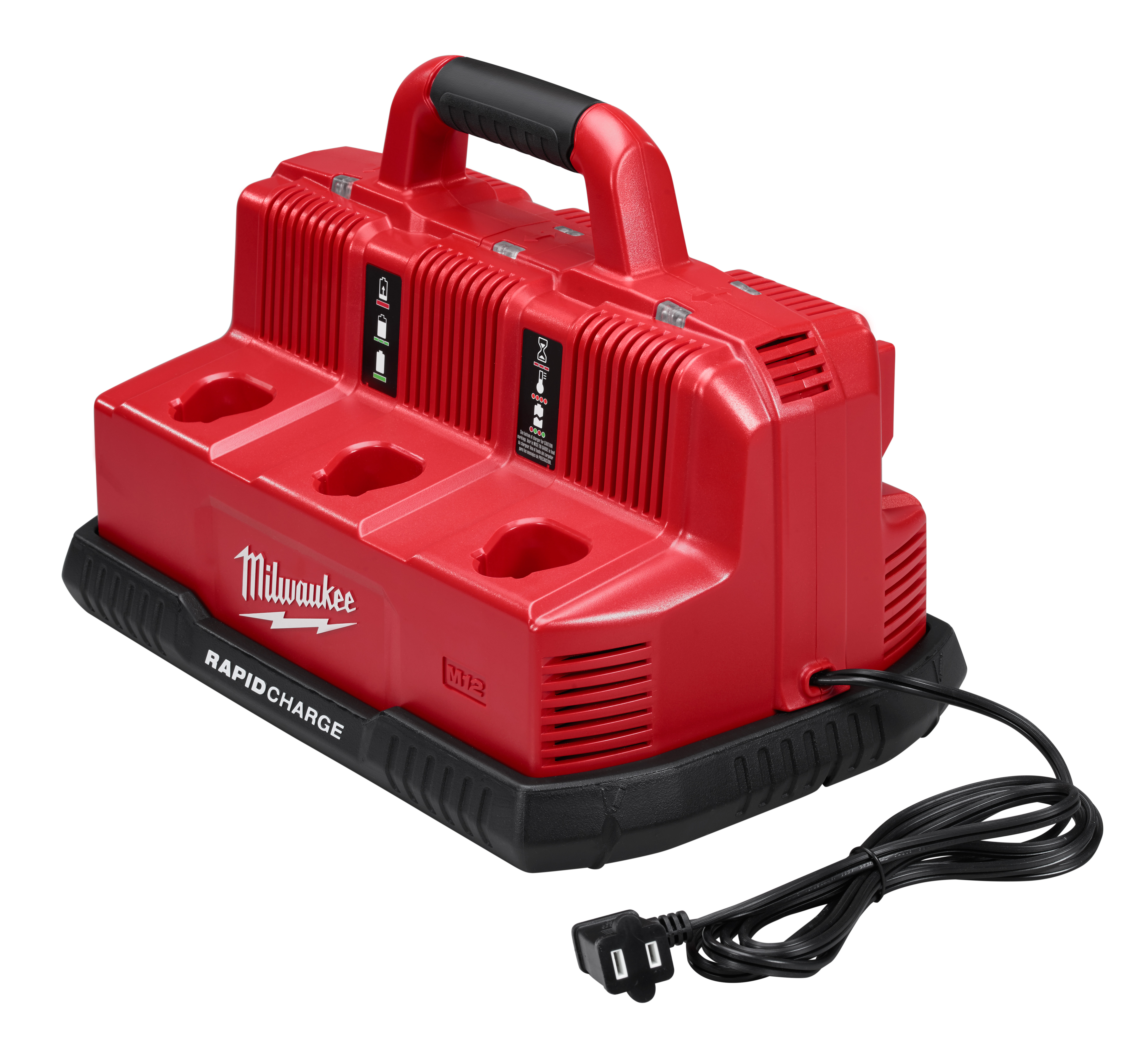 Milwaukee® M18™ M12™ 48-59-1807 Rapid Charge Station, For Use With M12™ and M18™ Battery, Lithium-Ion Battery, 1 hr Charging, 6 Batteries