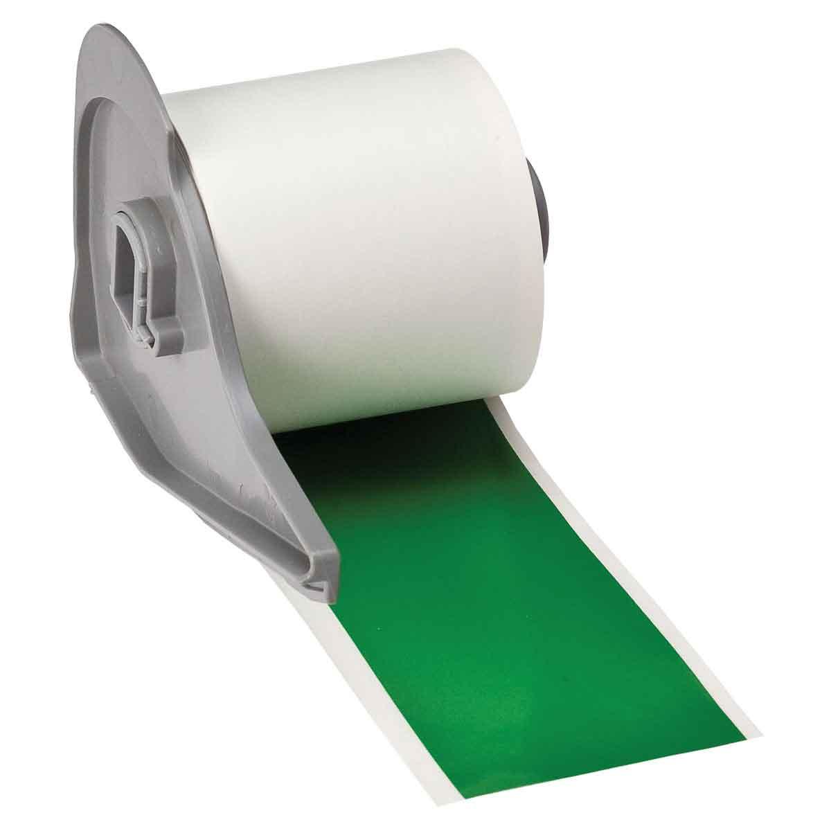Brady® M71C-2000-595-GN Blank Thermal Transfer Tape, 50 ft L x 2 in W, Green, B-595 Vinyl, Permanent Acrylic Adhesive, -40 to 180 deg F
