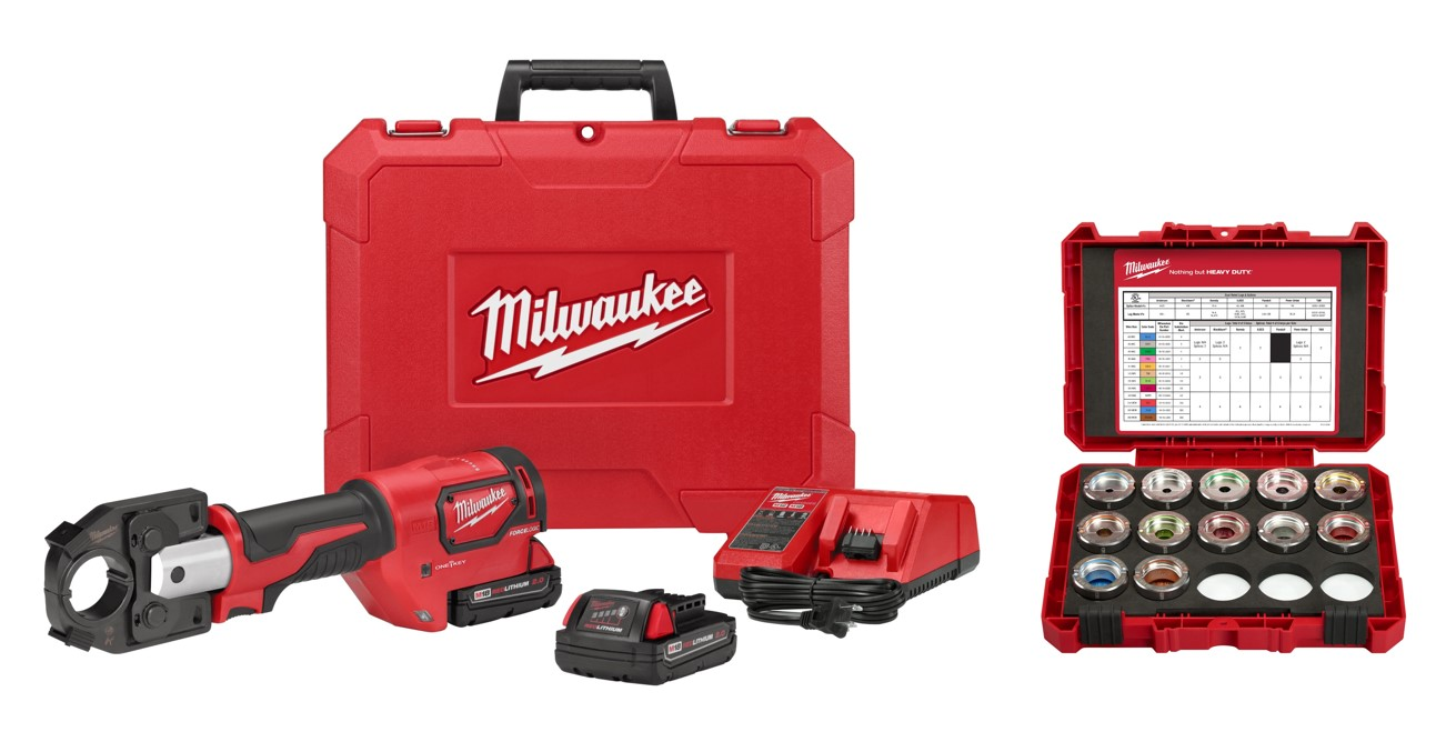 Milwaukee® M18™ FORCELOGIC™ 2679-KITA Cordless Crimper Kit, 12 ton Crimping, 18 VDC, M18™ Lithium-Ion Battery, 14 in OAL