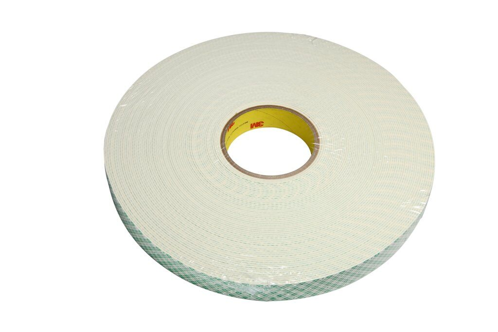 3M™ 4116 Single Coated Foam Tape, 36 yd L x 1 in W, 62 mil THK, Acrylic Adhesive, Urethane Foam Backing, Natural