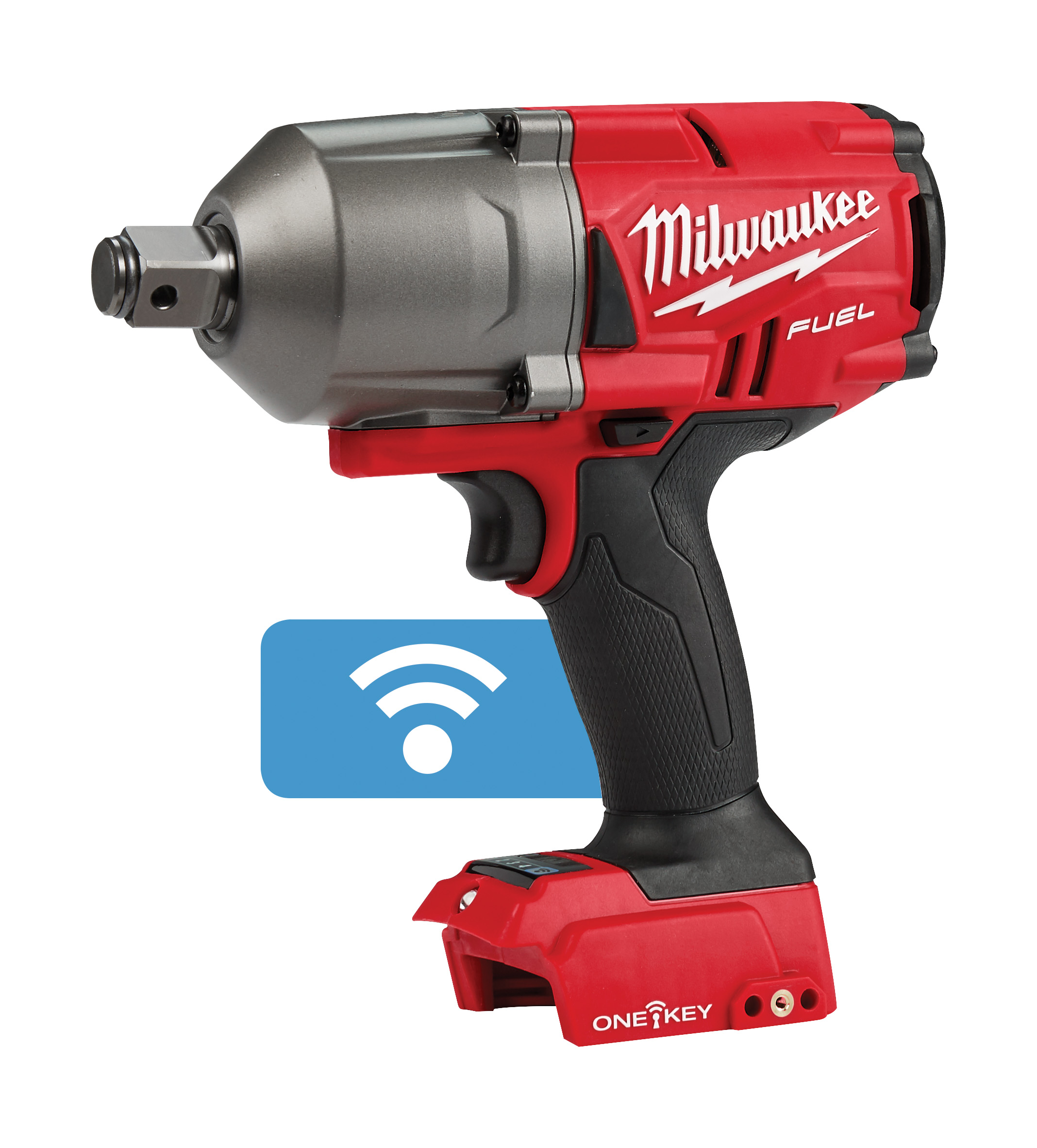 Milwaukee® M18™ FUEL™ ONE-KEY® 2864-20 Cordless High Torque Impact Wrench With 3/4 in Friction Ring, 3/4 in 4-Mode Straight Drive, 2100 bpm, 1200/1500 ft-lb Torque, 18 VDC, 8.59 in OAL