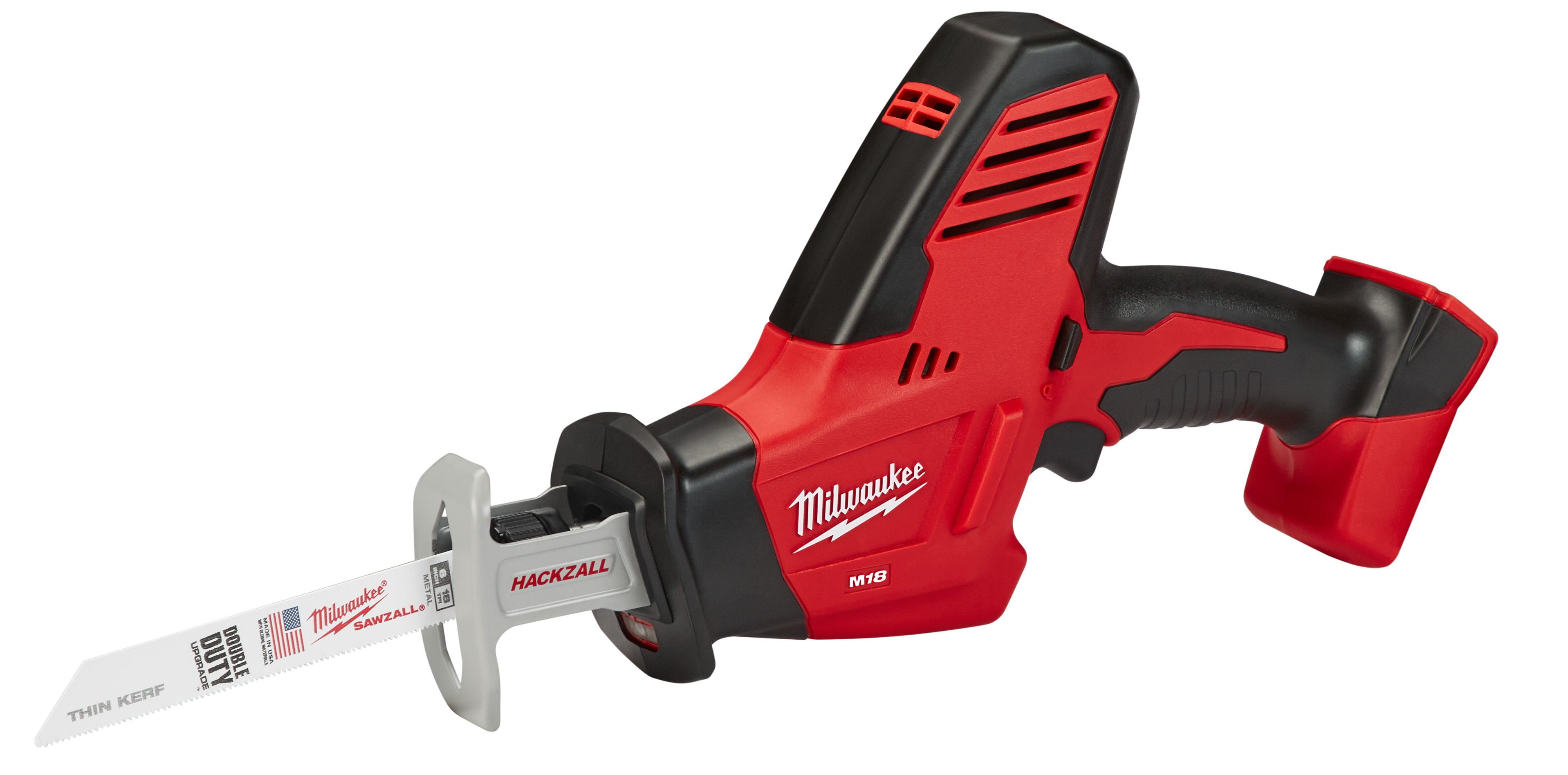 Milwaukee® M18™ 2625-20 1-Handed Anti-Vibration Cordless Reciprocating Saw, 3/4 in L Stroke, 3000 spm, Straight Cut, 18 VDC, 13 in OAL