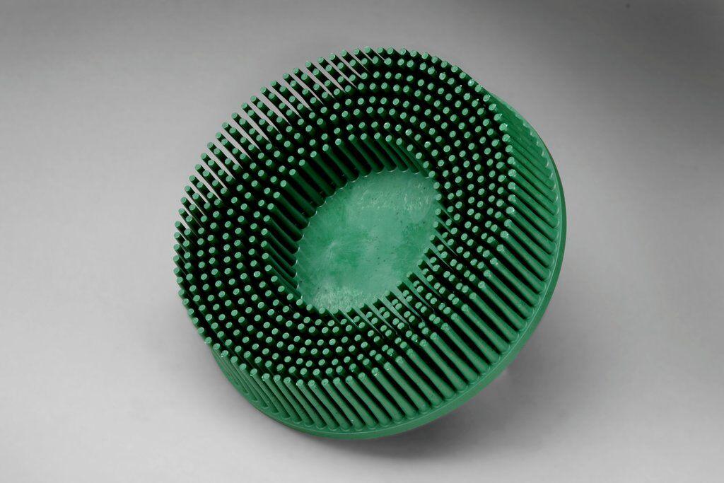 3M™ Roloc™ 048011-18734 RD-ZB Quick-Change Bristle Disc Brush, 3 in Dia Brush, 5/8 in Center Hole, Ceramic Fill