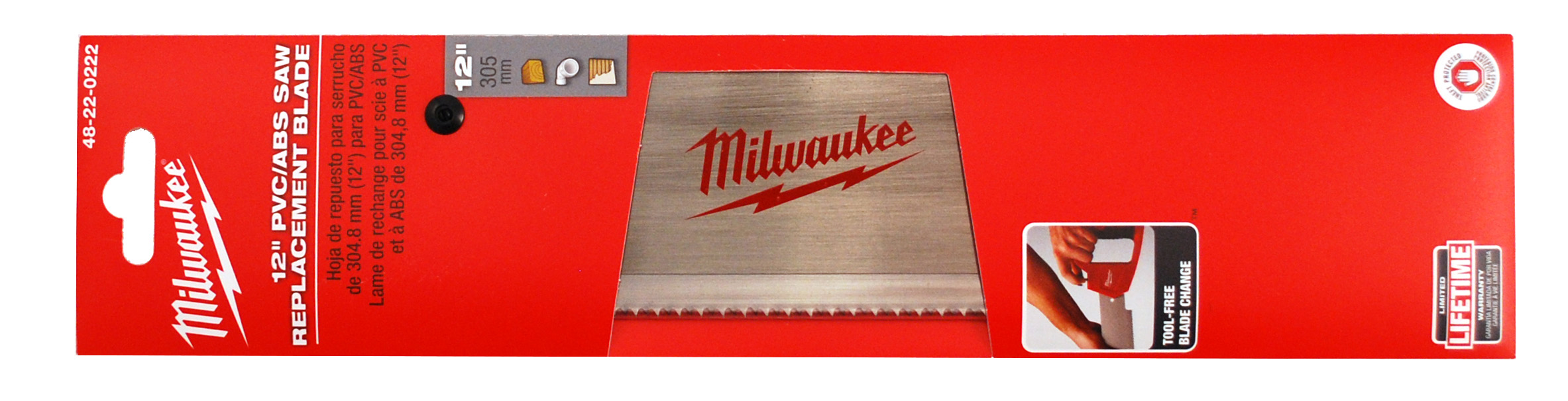 Milwaukee® 48-22-0222 Saw Replacement Blade, 12 in L Blade, 10 TPI, Steel Blade