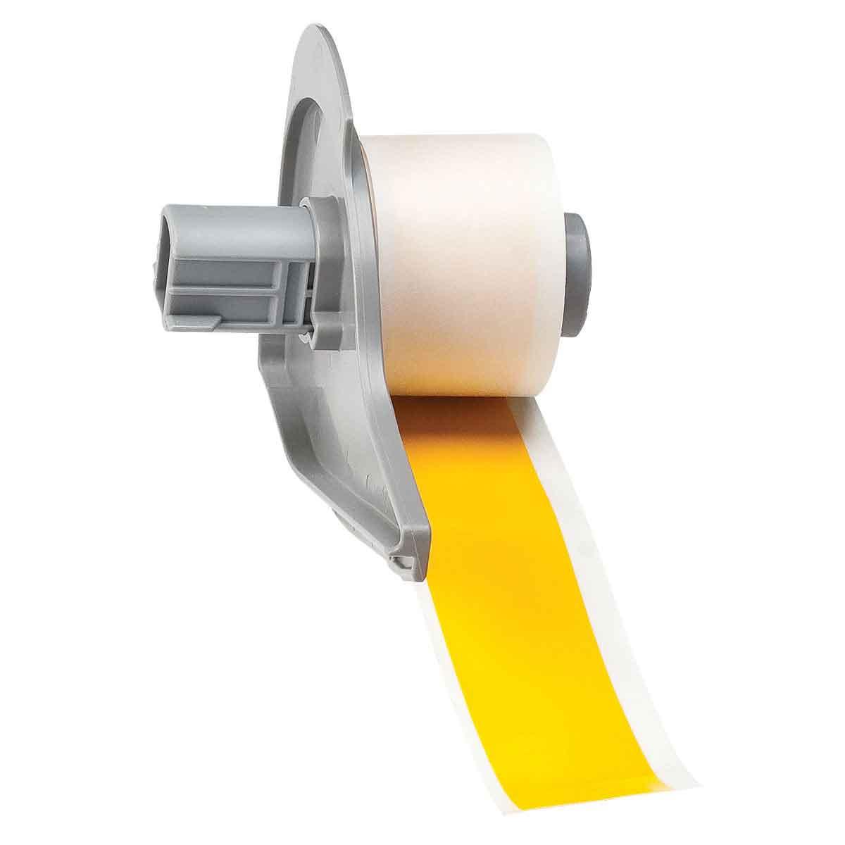 Brady® M71C-1000-595-YL Blank Thermal Transfer Tape, 50 ft L x 1 in W, Yellow, B-595 Vinyl, Permanent Acrylic Adhesive, -40 to 180 deg F