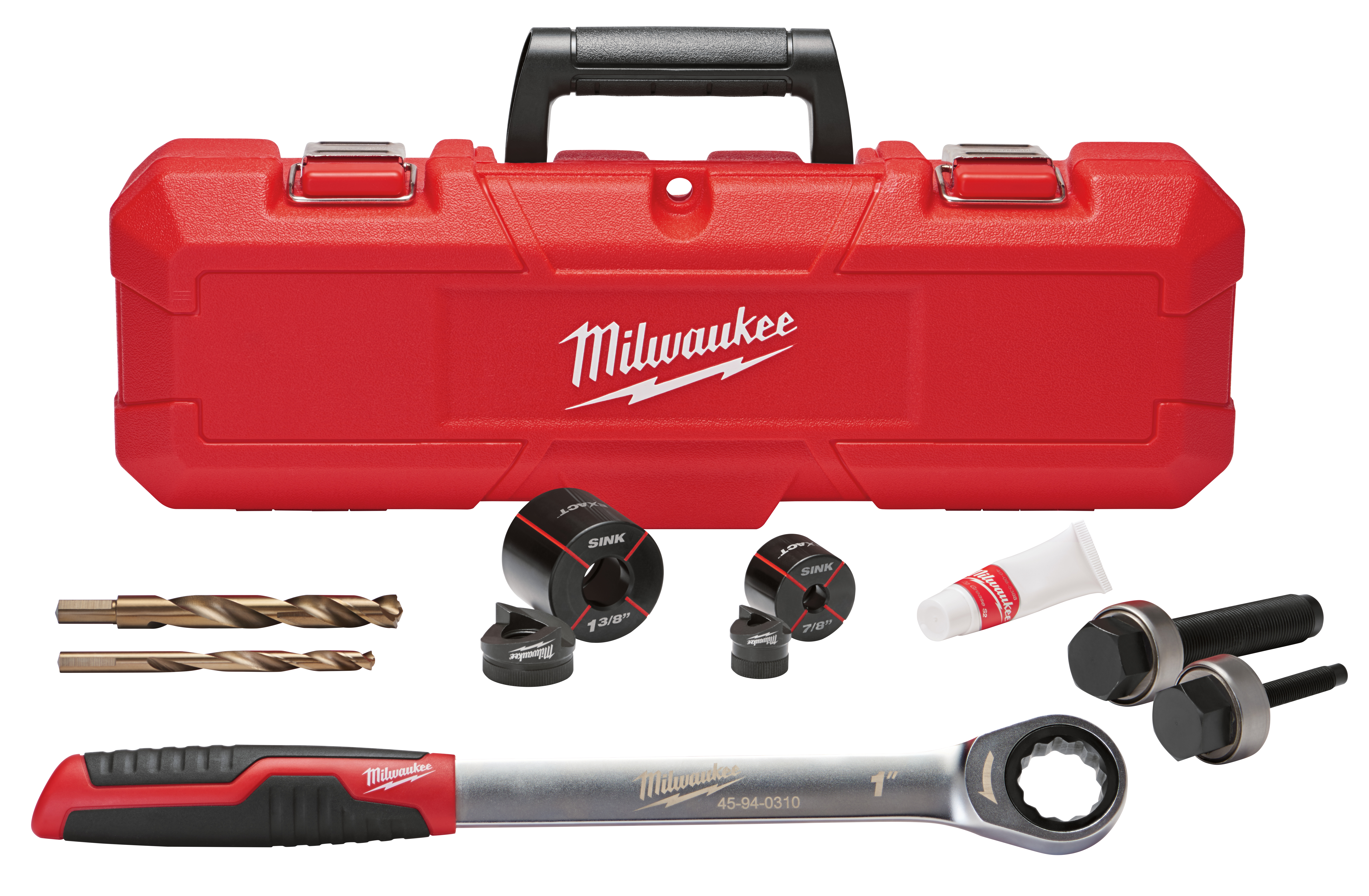 Milwaukee® EXACT™ 49-16-2702 Sink Knockout Set, 1-3/8 in Hole, For Use With Professional Knockout Tool