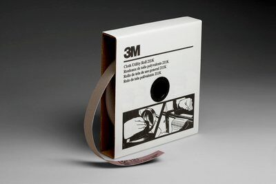 3M™ 05005 Utility Closed Coated Abrasive Roll, 50 yd L x 1 in W, 220 Grit, Very Fine Grade, Aluminum Oxide Abrasive, Cloth Backing