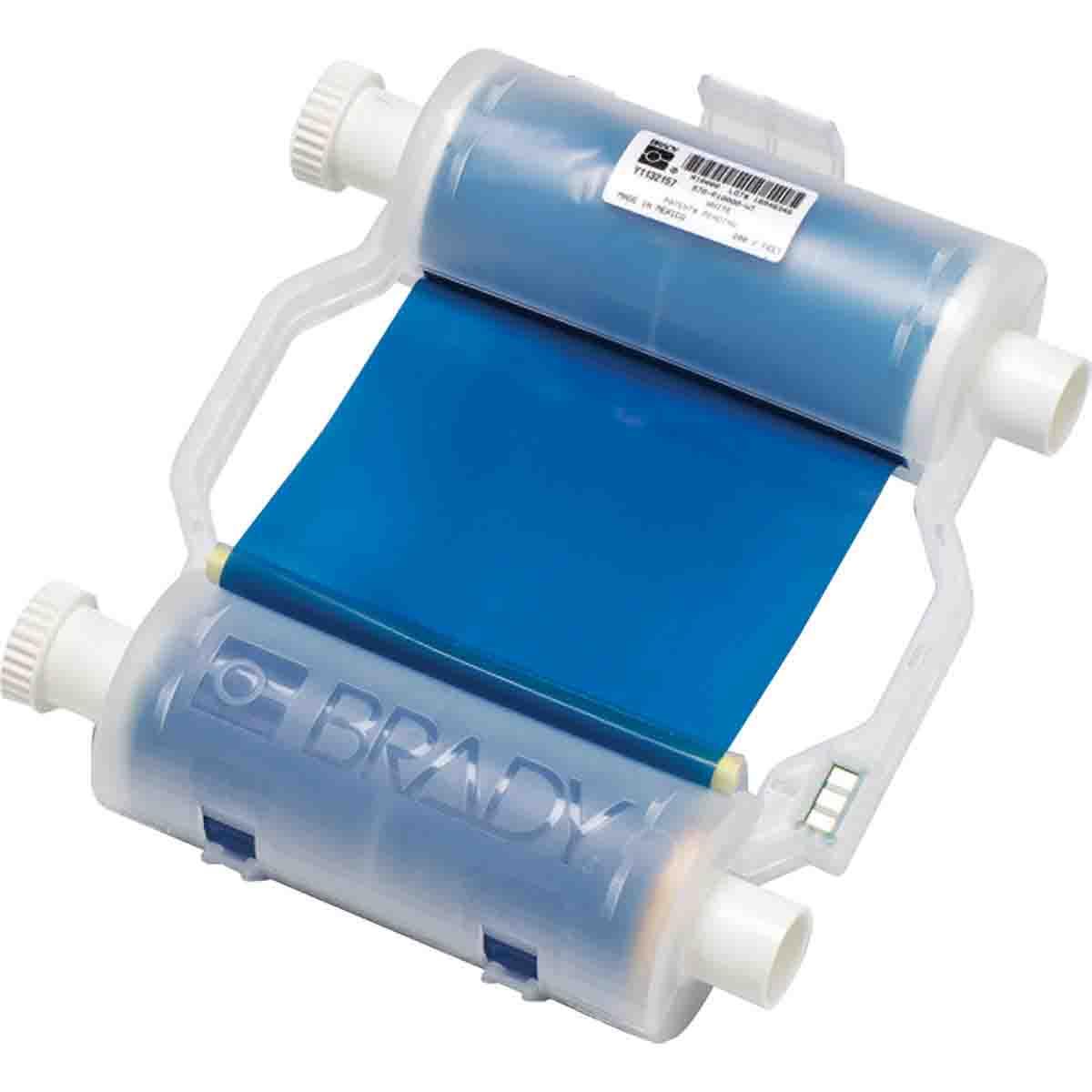 Brady® B30-R10000-BL B30 R10000 1-Color 1-Stage Heavy Duty Printer Ribbon, 200 ft L x 4.33 in W, Resin, Blue