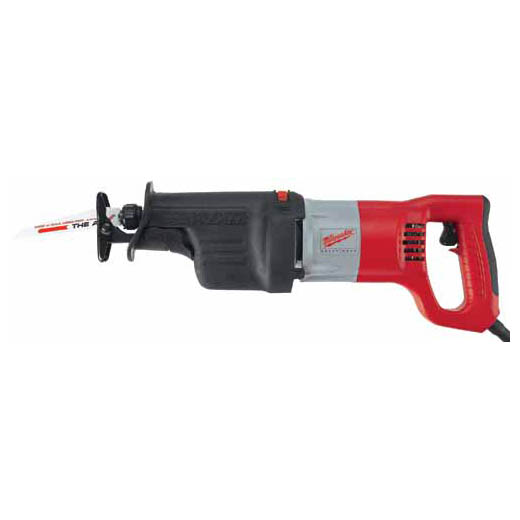 Milwaukee® 6536-21 Sawzall® Corded Grounded Reciprocating Saw, 1-1/4 in L, 0 to 3000 spm, 18-3/4 in OAL, Tool Only