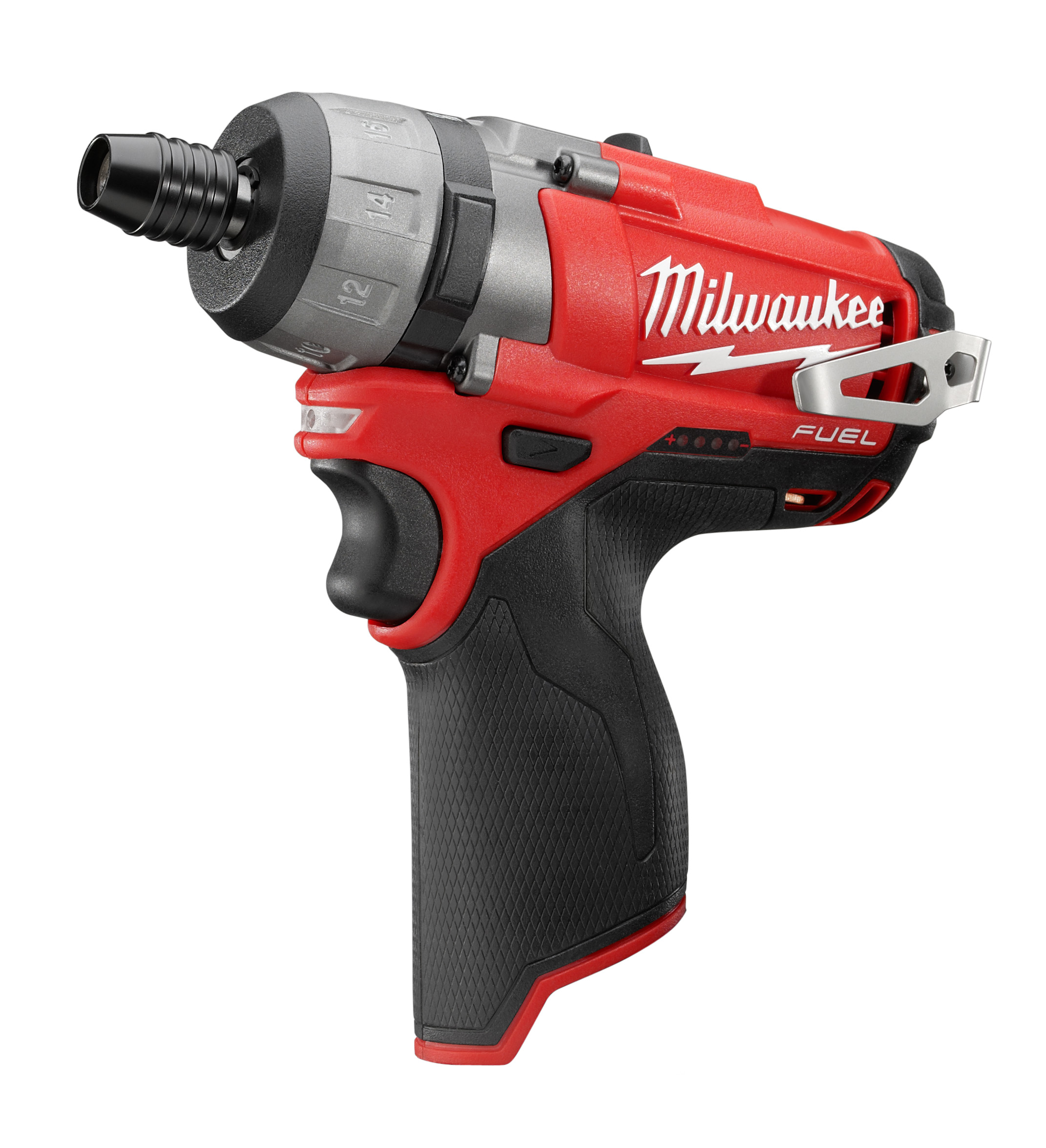 Milwaukee® M12™ FUEL™ 2402-20 Compact Cordless Screwdriver, 1/4 in Chuck, 12 VDC, 325 in-lb Torque, Lithium-Ion Battery