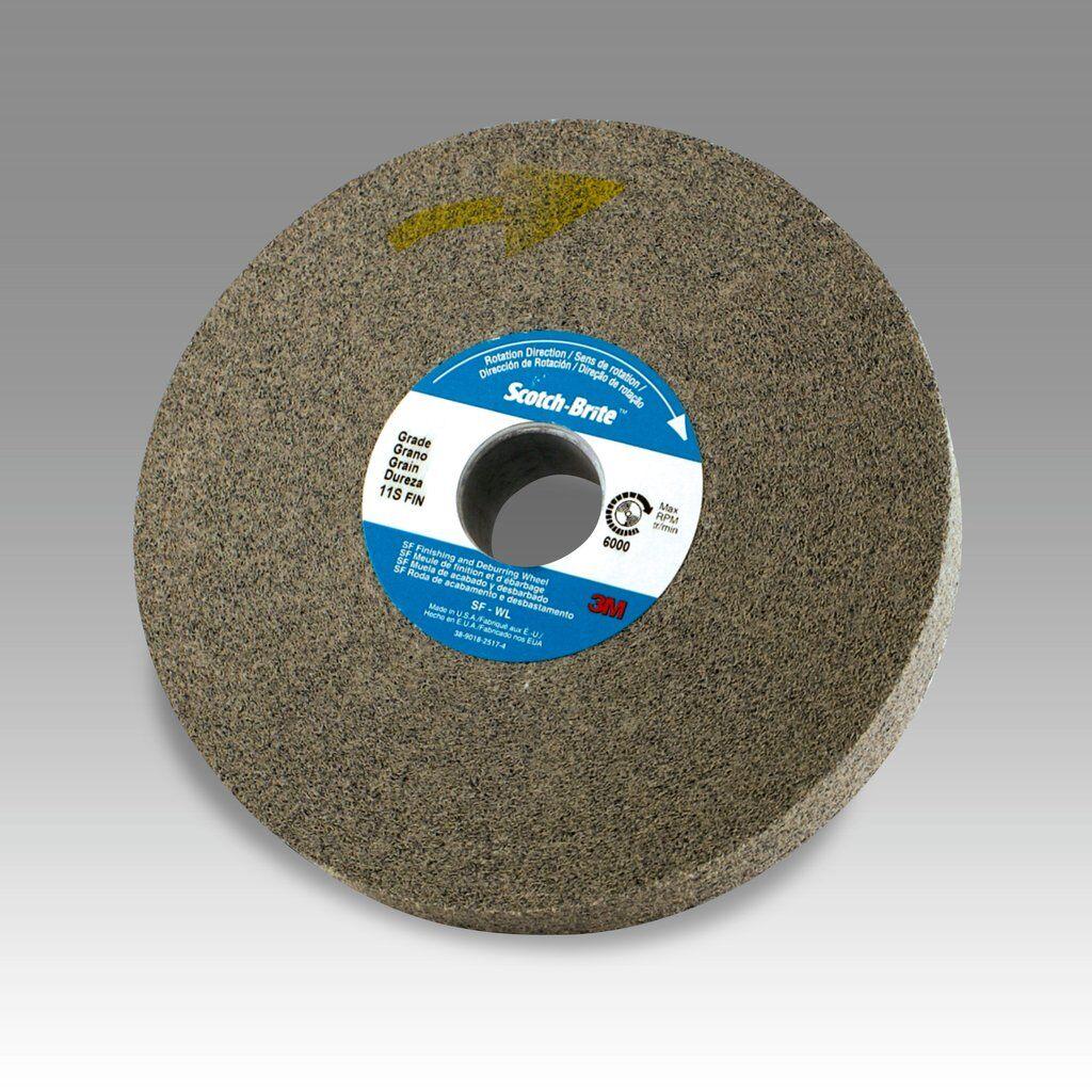 3M™ 01661 Convolute Light Deburring Wheel, 6 in Dia Wheel, 1 in Center Hole, 1 in W Face, Fine Grade, Silicon Carbide Abrasive