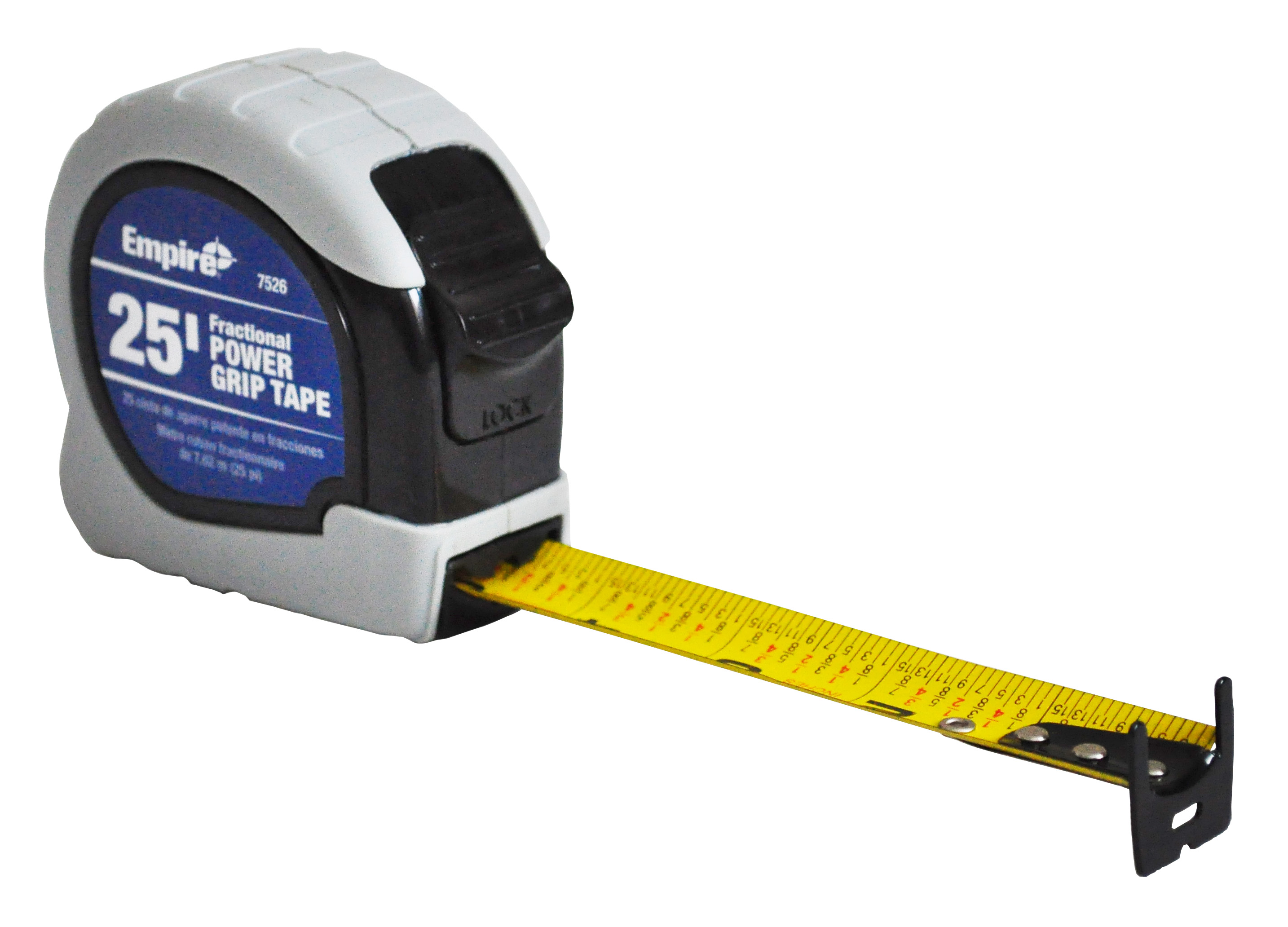 Milwaukee® 7526 Powergrip Measuring Tape With Belt Clip, 25 ft L x 1 in W Blade, Steel Blade, Imperial Measuring System, 1/16 in Graduation