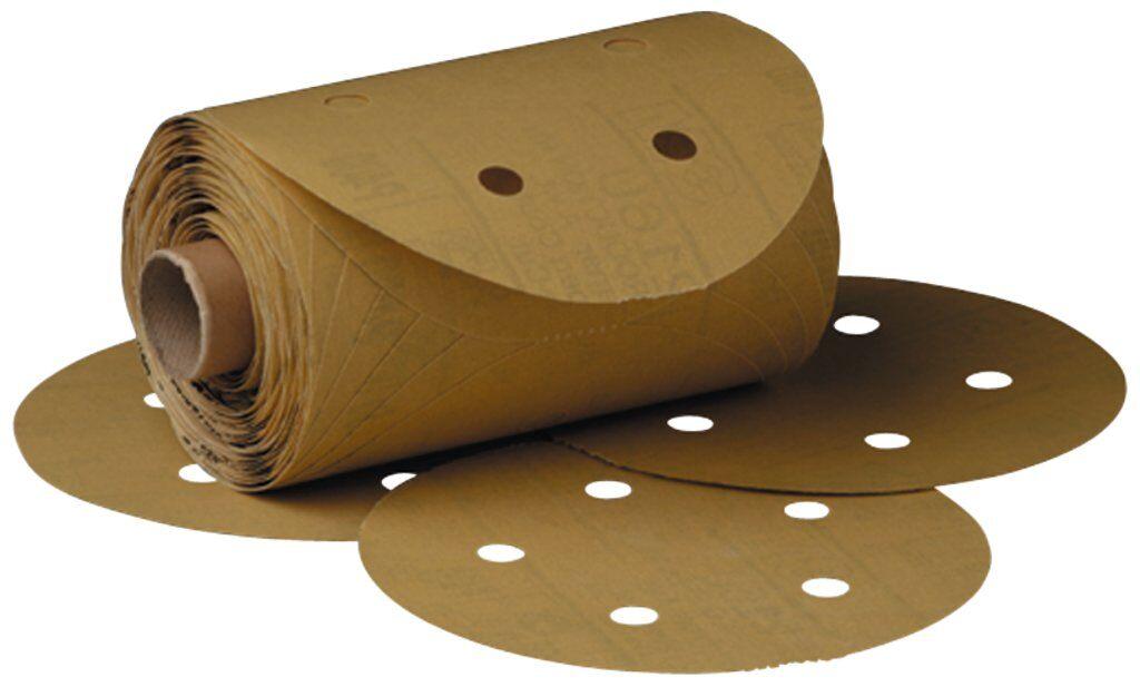 3M™ 01628 216U Open Coated PSA Abrasive Disc Roll, 5 in Dia Disc, P80 Grit, Medium Grade, Aluminum Oxide Abrasive, Paper Backing