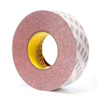 3M™ 469 Non-Repulpable Double Coated Splicing Tape, 60 yd L x 2 in W, 5.5 mil THK, 340 Acrylic Adhesive, Tissue Paper Backing, Red