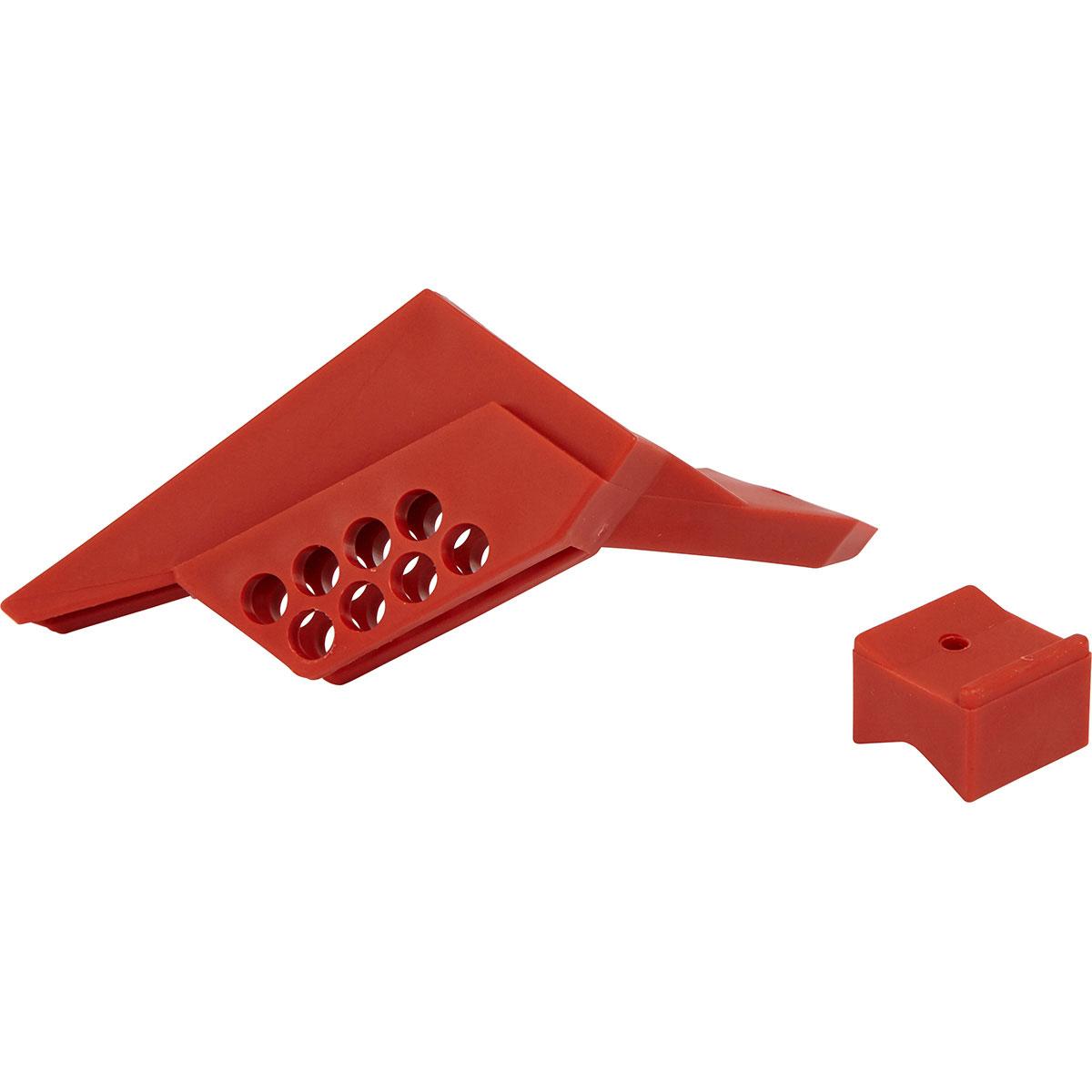Brady® 65666 Small Ball Valve Lockout, Fits Minimum Pipe Size: 1/4 in, Fits Maximum Pipe Size: 1 in, 8 Padlocks, -20 deg F Min, 250 deg F max
