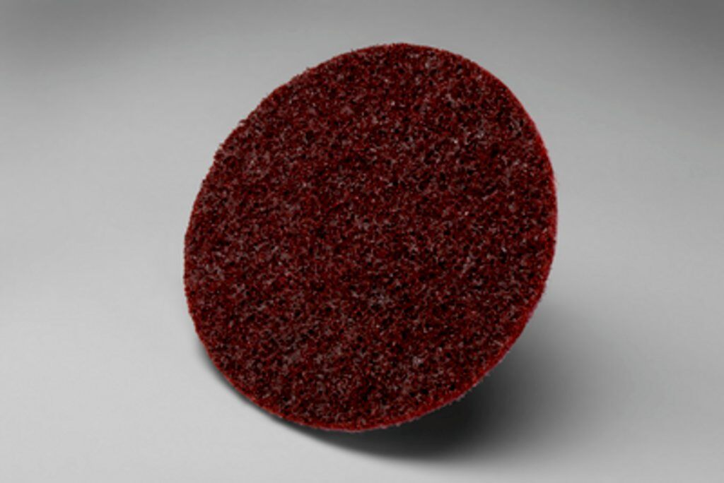 3M™ Scotch-Brite™ 18471 SE Series Non-Woven Surface Conditioning Disc, 2 in Dia Disc, Medium Grade, Aluminum Oxide Abrasive, Type TR Attachment