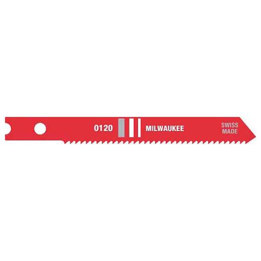 Milwaukee® 48-42-0120 Heavy Duty Jig Saw Blade, 2-3/4 in L x 9/32 in W, 18, HSS Cutting Edge, HSS Body
