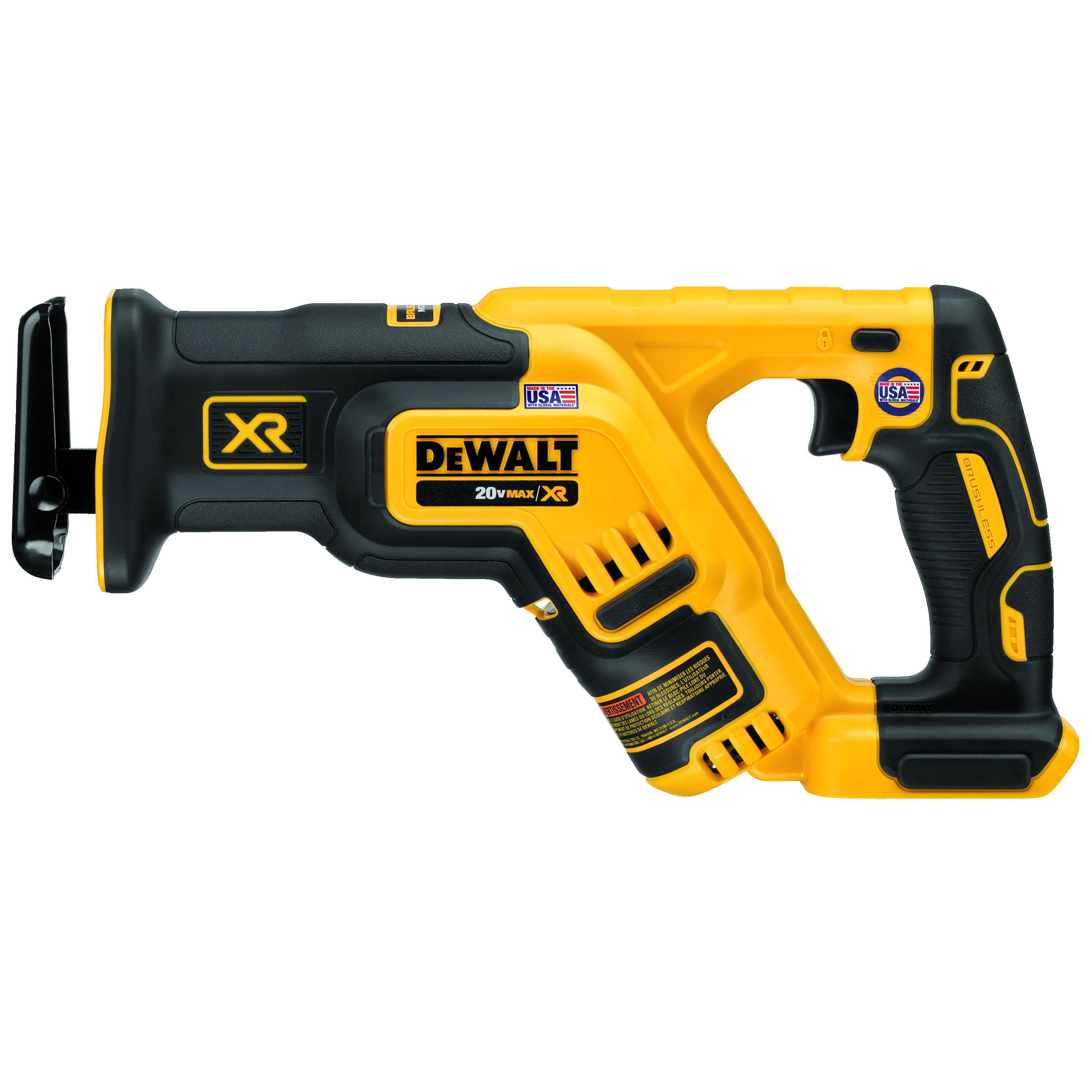 DeWALT® DCS367B Brushless Compact Cordless Reciprocating Saw, 1-1/8 in L Stroke, 0 to 2900 spm, Flush Cut, 20 VDC