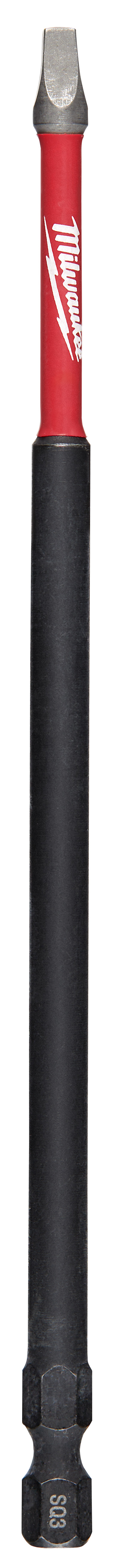 Milwaukee® SHOCKWAVE™ 48-32-4816 Impact Power Bit, #3 Square Recessed Point, 6 in OAL, 1/4 in, Steel