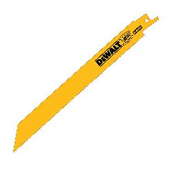 DeWALT® DW4809B Straight Back Reciprocating Saw Blade, 8 in L x 5/8 in W, 14, Bi-Metal Body, Universal/Toothed Edge Tang
