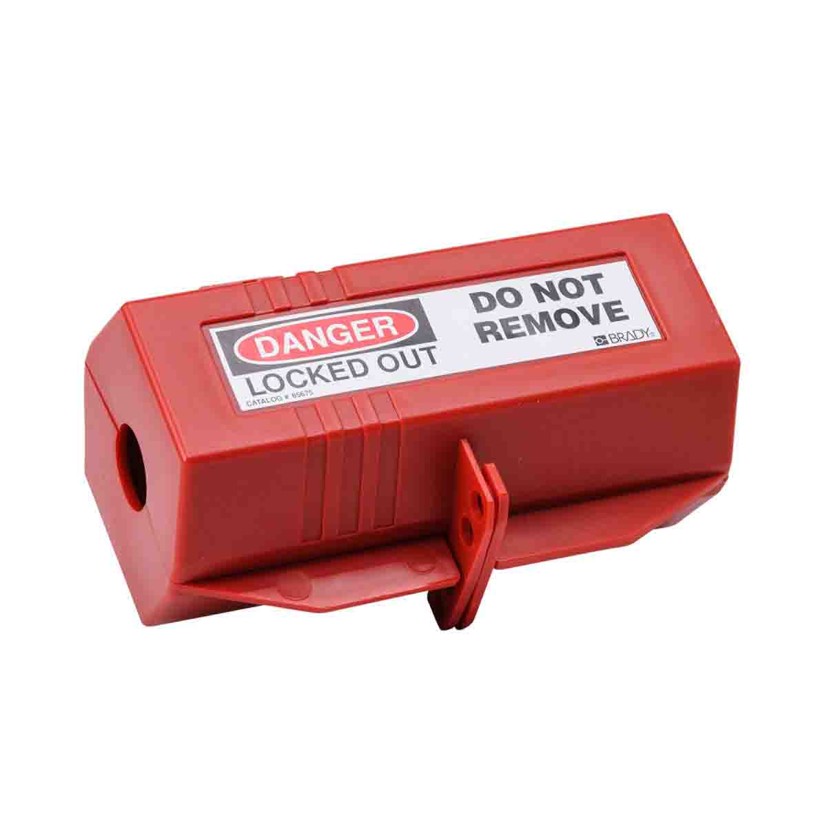 Brady® 65675 Electrical Risk Large Plug Lockout Device, For Use With Up to 1 in Dia Cord and 2-1/2 in L Plug, 4 Padlocks, 0.36 in Dia Max Padlock Shackle, LOTO-29 Polypropylene, Red