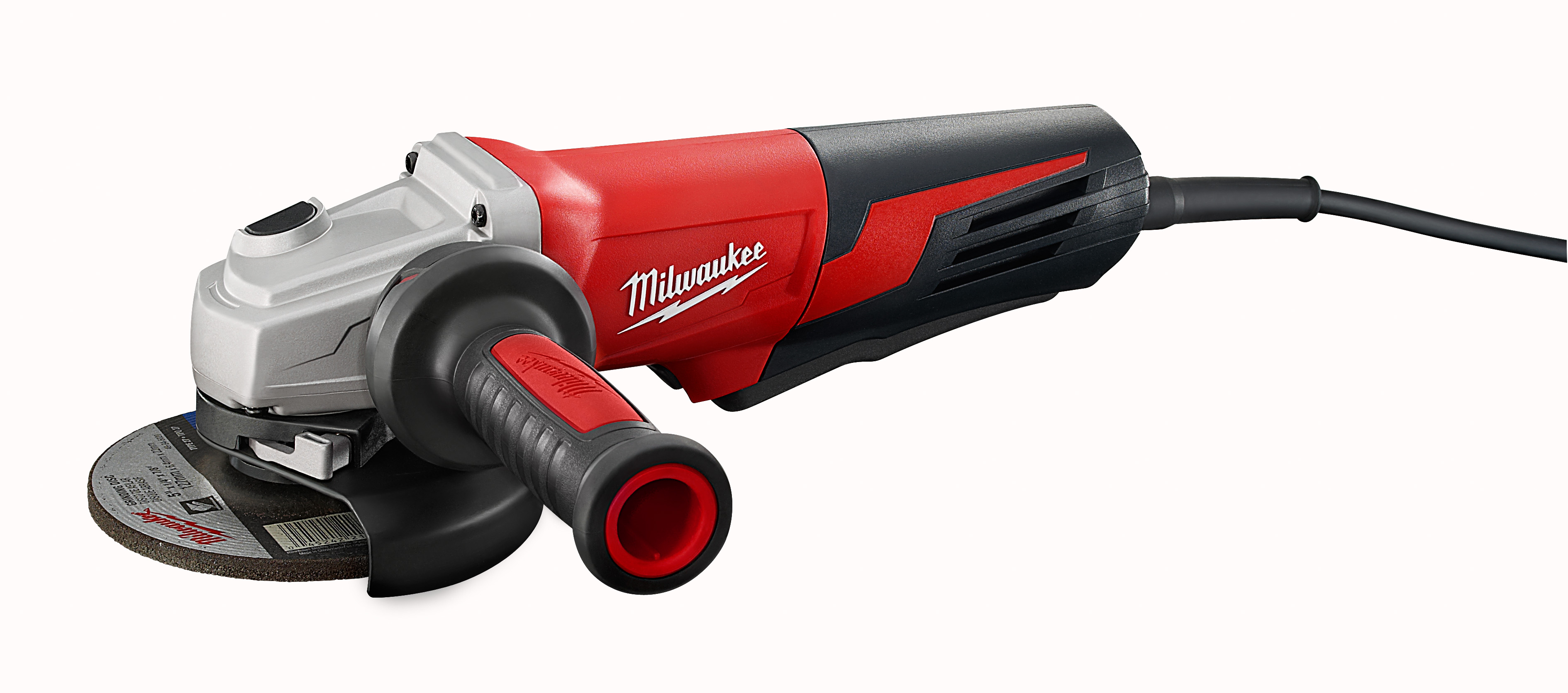 Milwaukee® 6117-31 Double Insulated Small Angle Grinder, 5 in Dia Wheel, 5/8-11 Arbor/Shank, 120 VAC, Black/Red