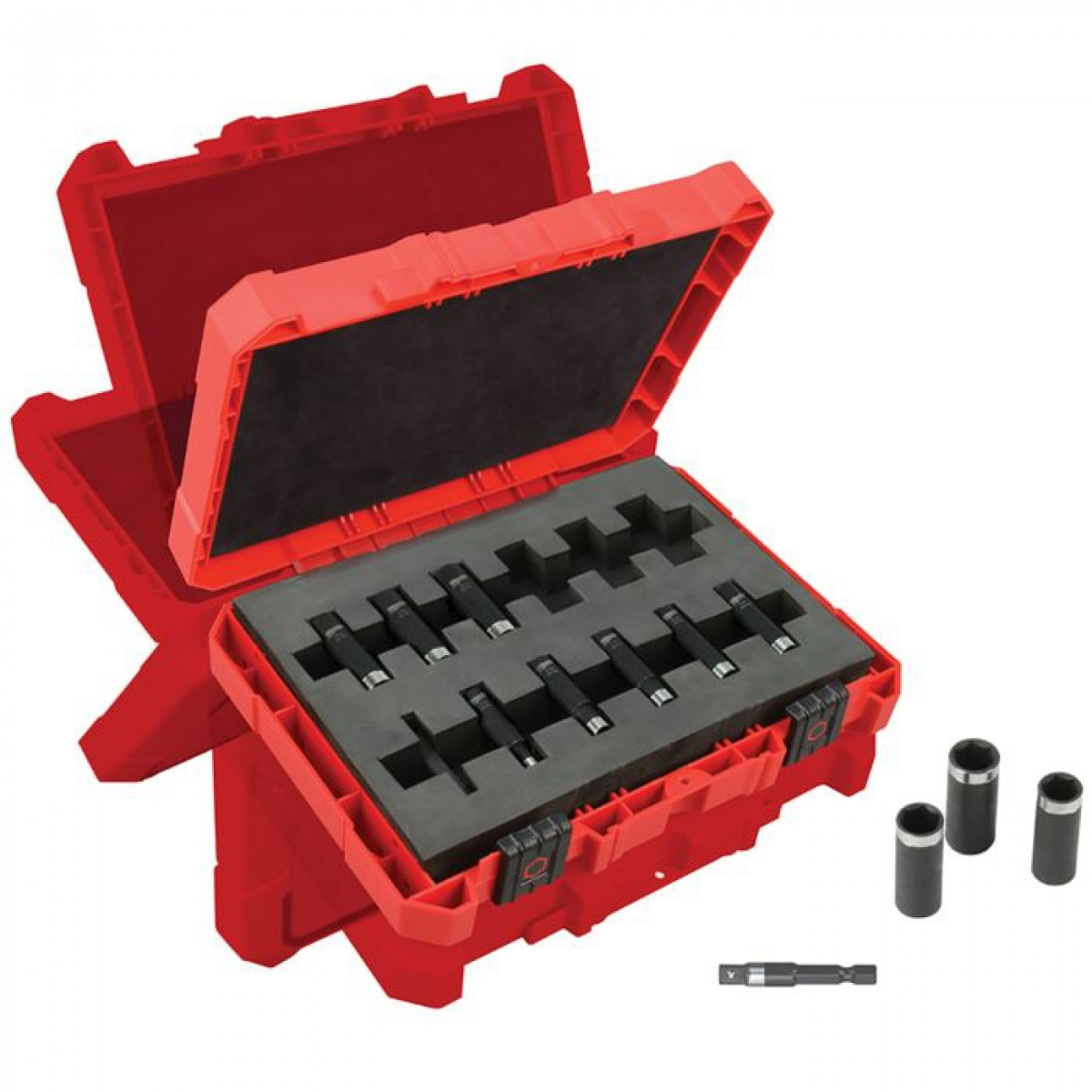 Milwaukee® SHOCKWAVE™ 49-66-4301 Deep Well Thinwall Socket Set, 6 Points, 1/4 in Drive, 12 Pieces