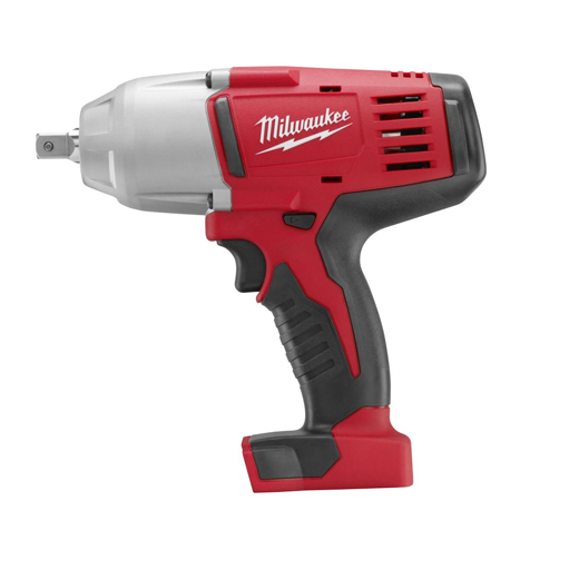 Milwaukee® M18™ 2662-20 Cordless Impact Wrench With Pin Detent, 1/2 in Straight Drive, 0 to 2200 bpm, 450 ft-lb Torque, 18 VDC, 8-7/8 in OAL