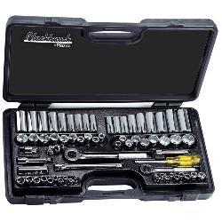 Blackhawk™ by Proto® 9765 Standard Socket Set, 6/12 Points, 1/4 in, 3/8 in Drive, 66 Pieces