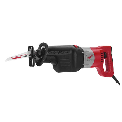 Milwaukee® SAWZALL® 6520-21 Grounded Corded Reciprocating Saw, 1-1/8 in L, 0 to 2800 spm, 18-3/4 in OAL