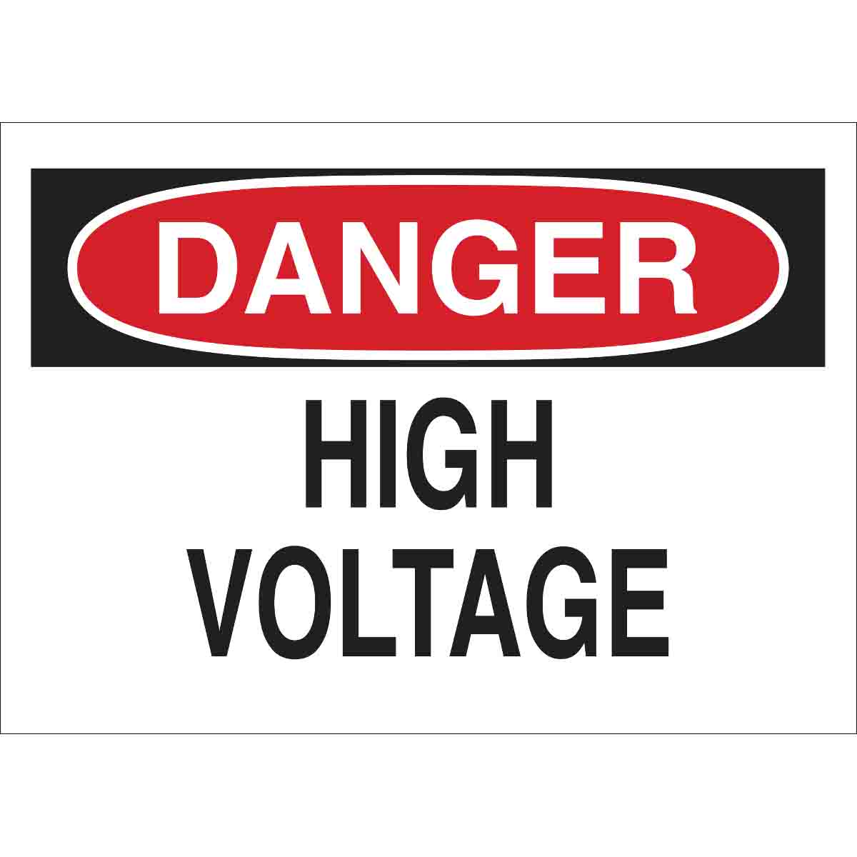 Brady® 47005 Rectangle Admittance Sign, DANGER, 10 in H x 14 in W, Black/Red on white, B-120 Premium Fiberglass, Surface Mounting