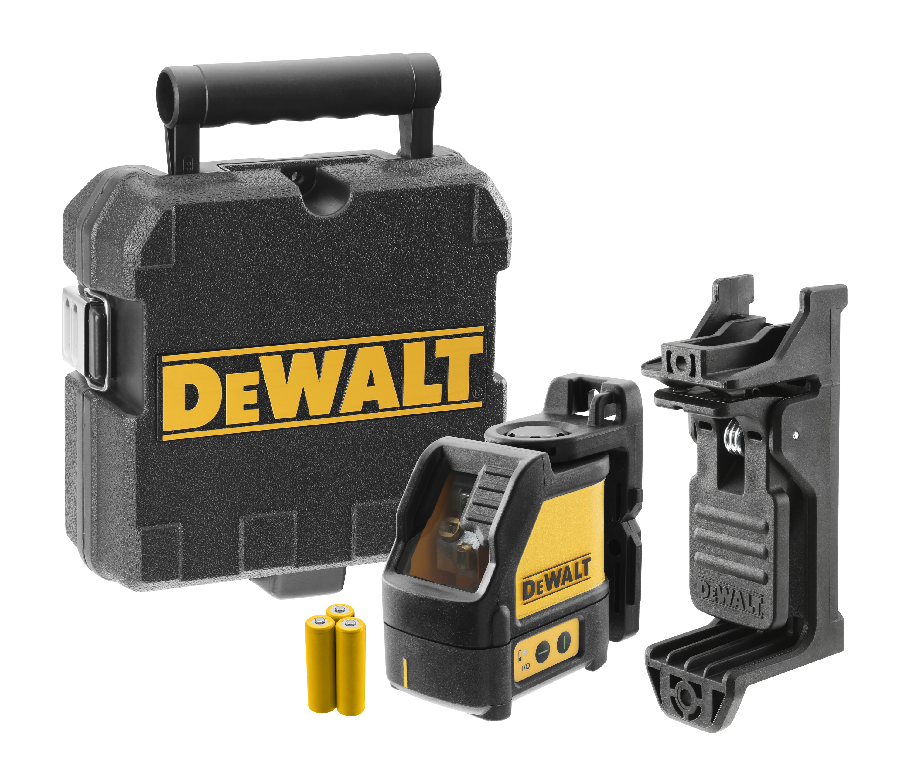 **Sale! Add to cart, save 15% more  - DeWALT® DW088CG Green Cross Line Laser, +/-1/8 in at 30 ft Accuracy, (3) AA Batteries