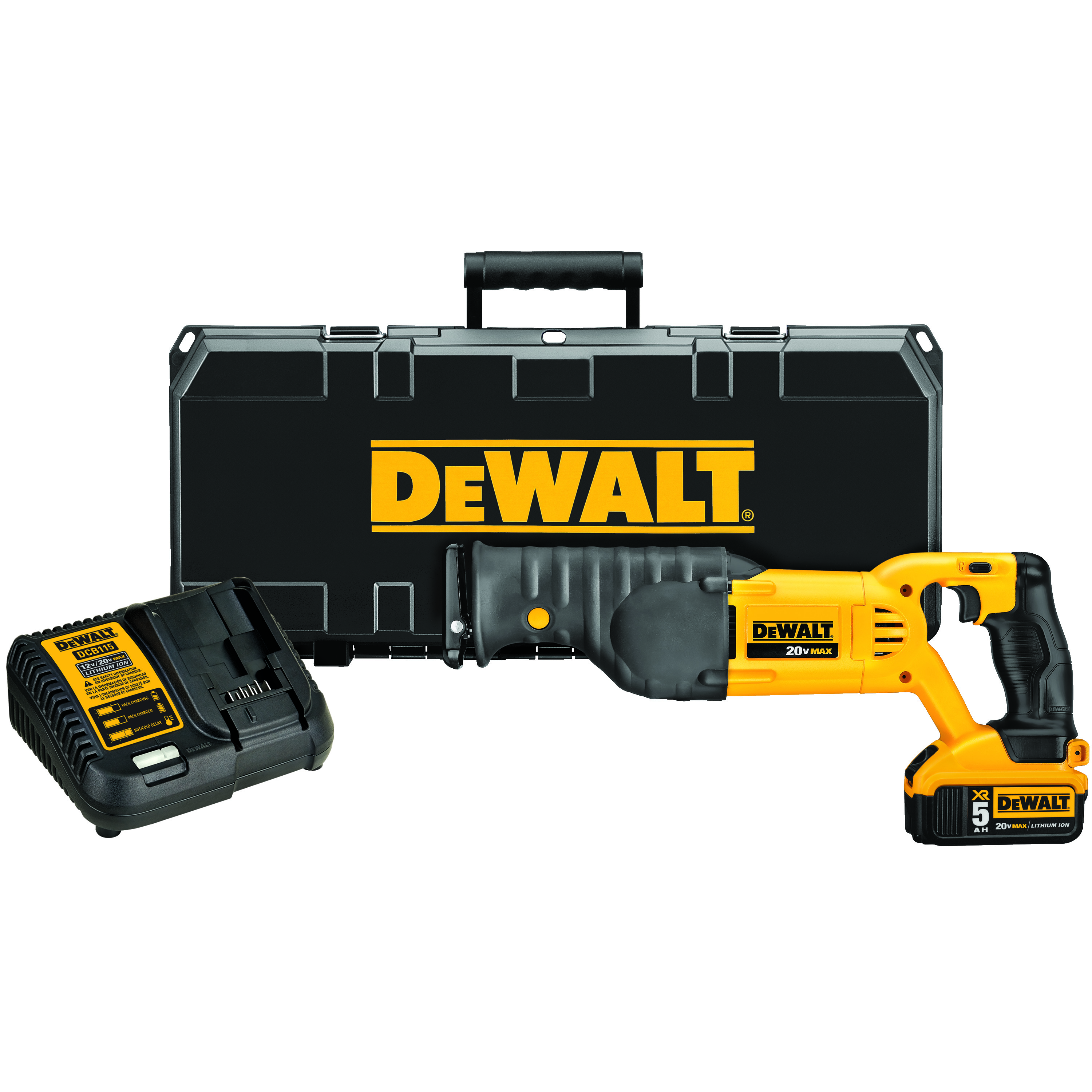 DeWALT® 12V MAX* DCS380P1 Cordless Reciprocating Saw Kit, 1-1/8 in L Stroke, 0 to 3000 spm, Orbital Cut, 20 VDC, 18 in OAL