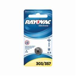 Rayovac® 303/357-1ZMG Electronic Battery, Silver Oxide, 1.5 VDC V Nominal, 165 mAh Nominal, SR44