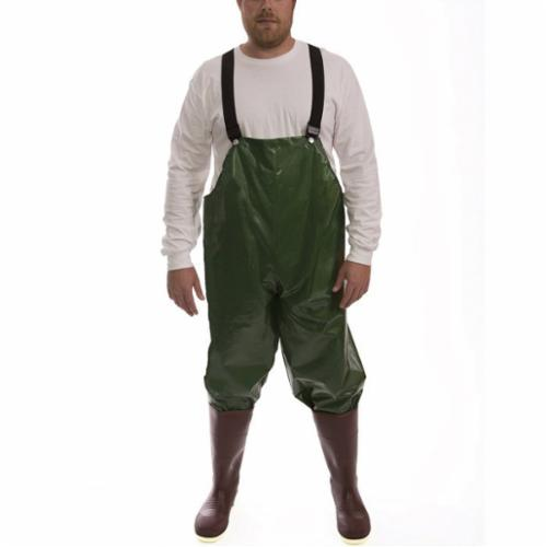 Tingley Iron Eagle® O22008-5X Lightweight Rain Bib Overall, Men's, 5XL, Green, Polyurethane/210D Nylon, 33 in L Inseam