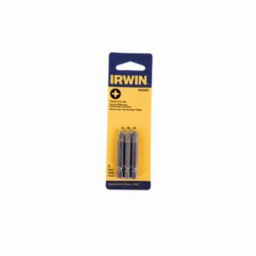 Irwin® 3521993C Power Bit Set, Phillips® Point, 3 Pieces, 1-15/16 in OAL, S2 Steel